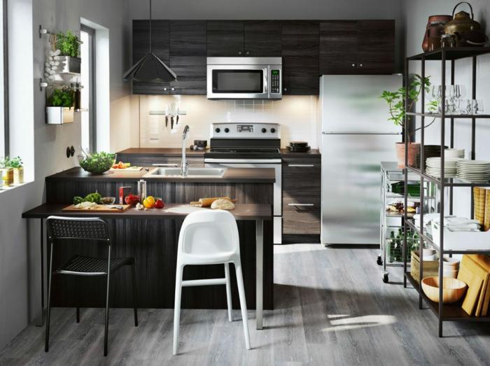 aménagement petite cuisine étagères ouvertes