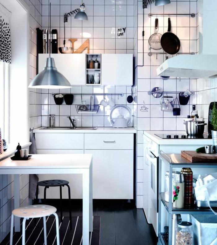aménagement petite cuisine blanche ikea