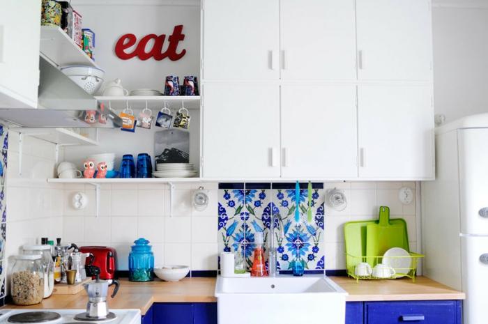 aménagement petite cuisine crédence carrelage