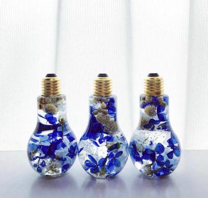 50 id es pour recycler les ampoules lectriques en objets d coratifs. Black Bedroom Furniture Sets. Home Design Ideas