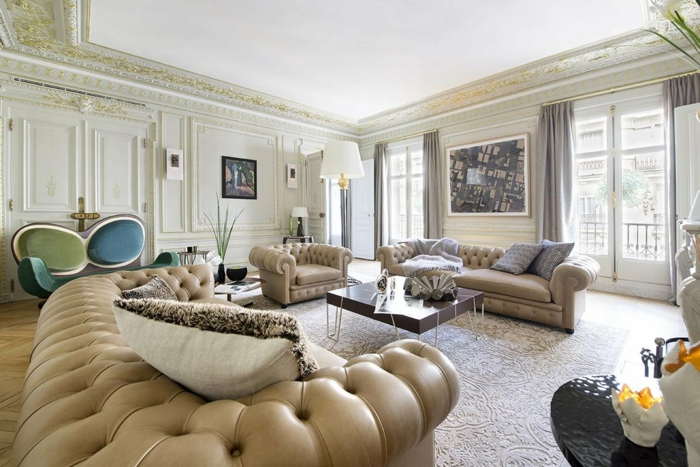 appartement de luxe immeuble haussmannien
