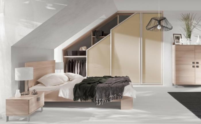 armoire sur mesure chambre mansardée