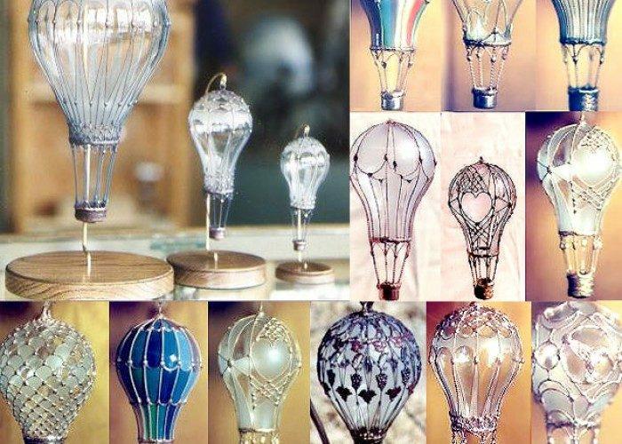 belle déco à fabriquer à la maison ampoules électriques