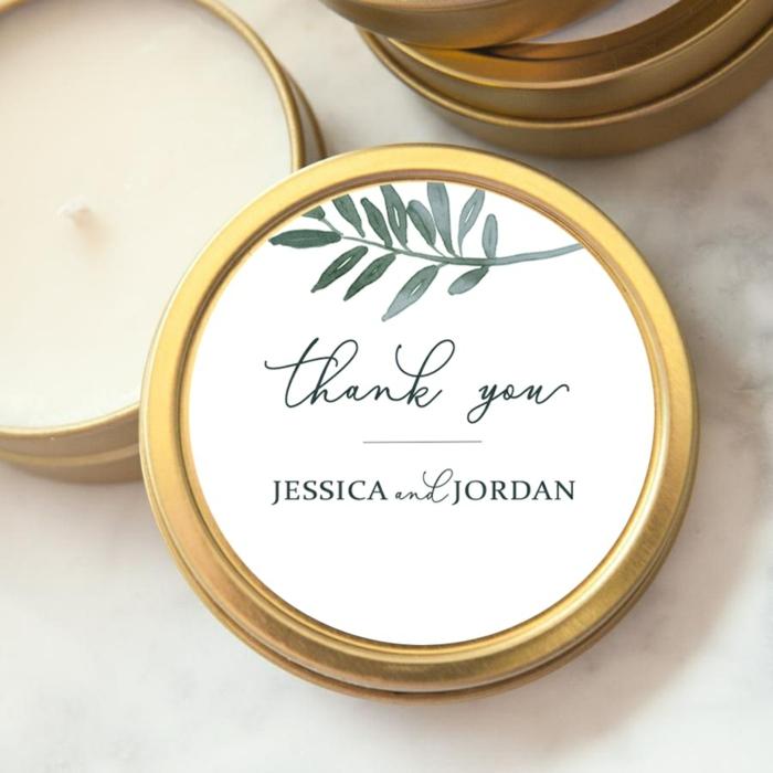 cadeau invités mariage bougie de dire merci