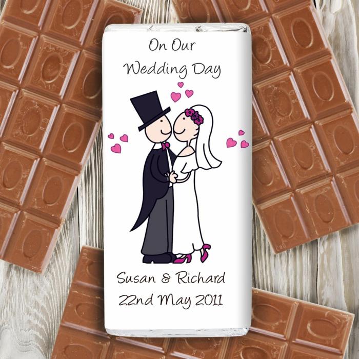 cadeau invités mariage chocolat idée