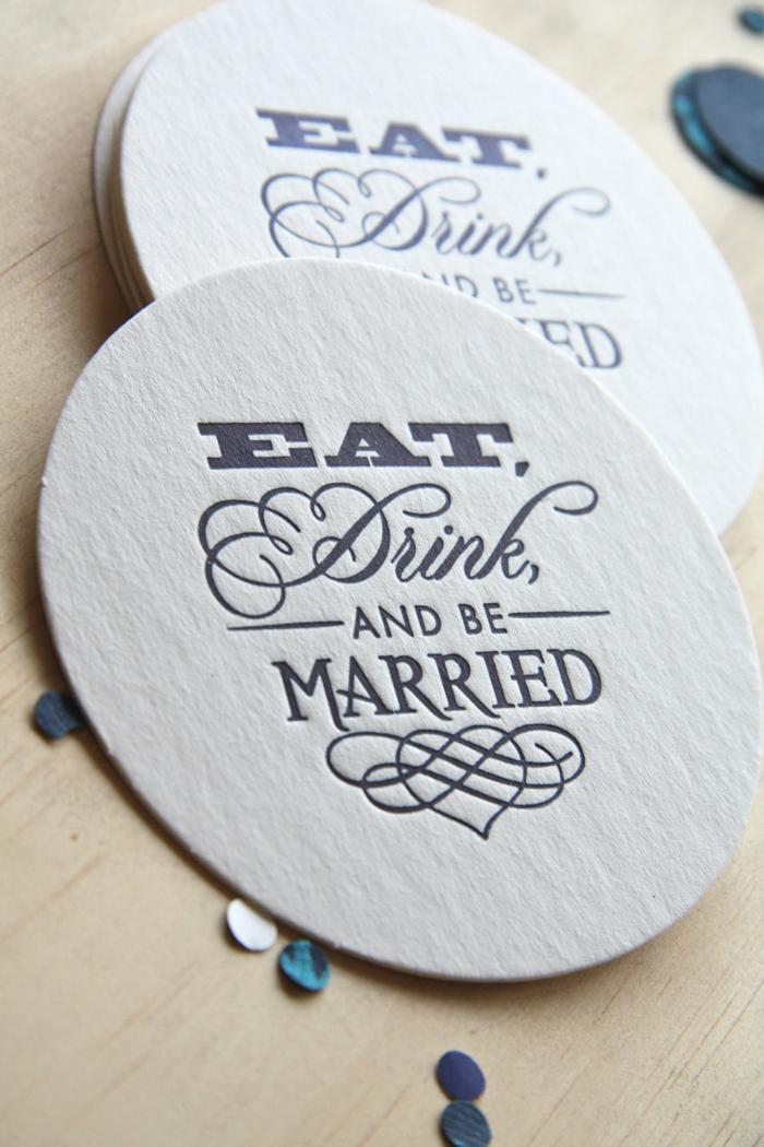 cadeau invités mariage dessous de verre