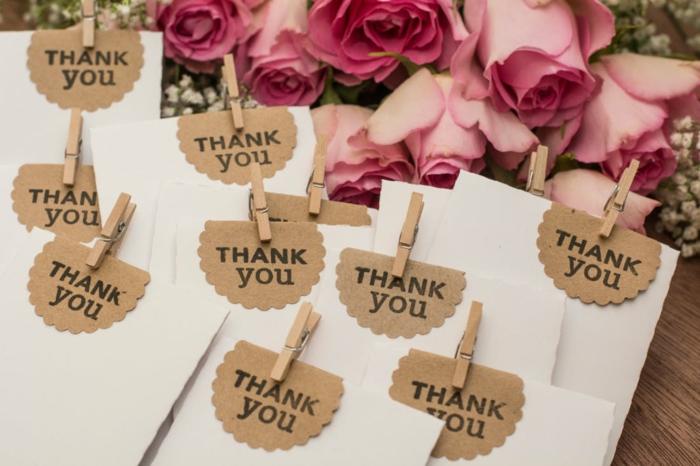 cadeau invités mariage dire merci