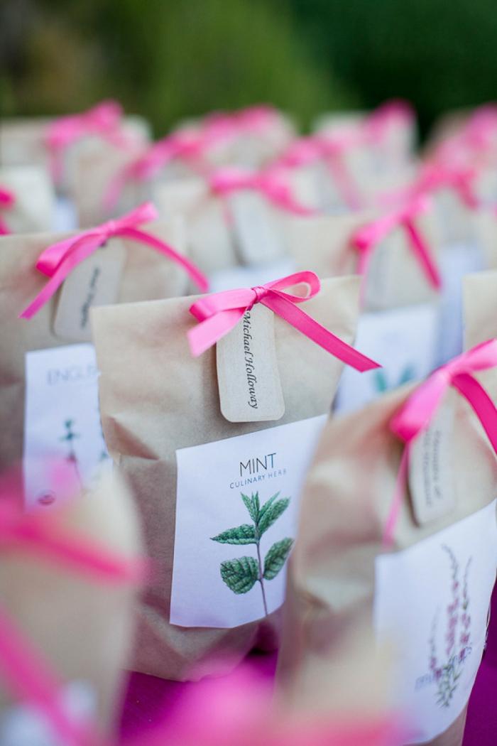 cadeau invités mariage idée avec du thé