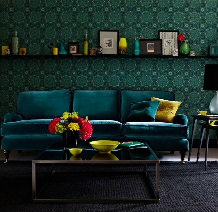 Canapé velours : idées pour un salon chaleureux et cocooning