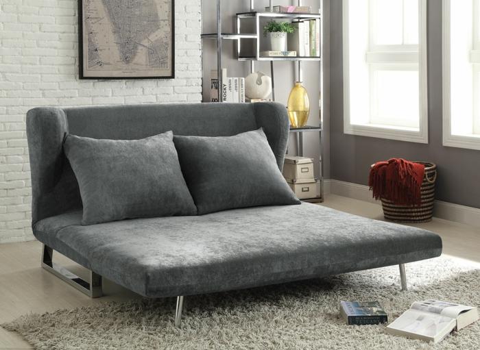 canapé velours gris