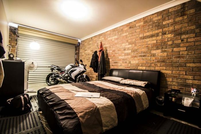 chambre à coucher transformer un garage en habitation