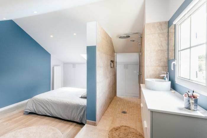 chambre douche à l'italienne sans paroi