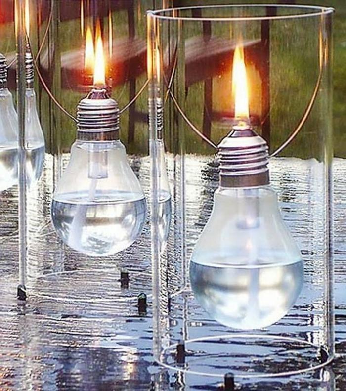 chandeliers idée diy ampoules électriques