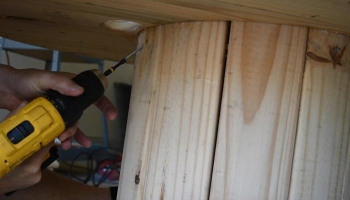 comment faire une table en touret bois
