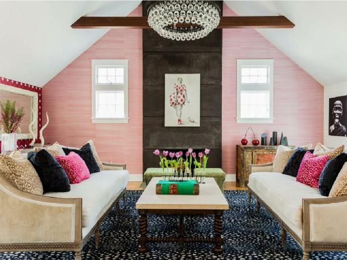 couleur de peinture tendance 2018 intérieur rose millenial