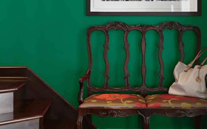 couleur de peinture tendance 2018 vert émeraude