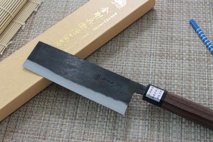 couteau japonais blue steel 165mm