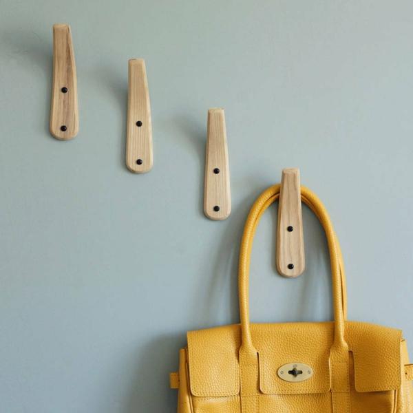 crochets muraux bois patère design
