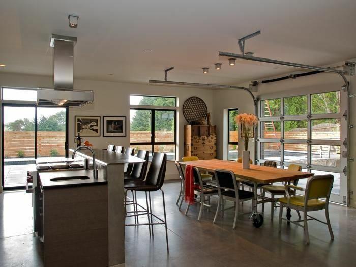 cuisine et salle à manger transformer un garage en habitation