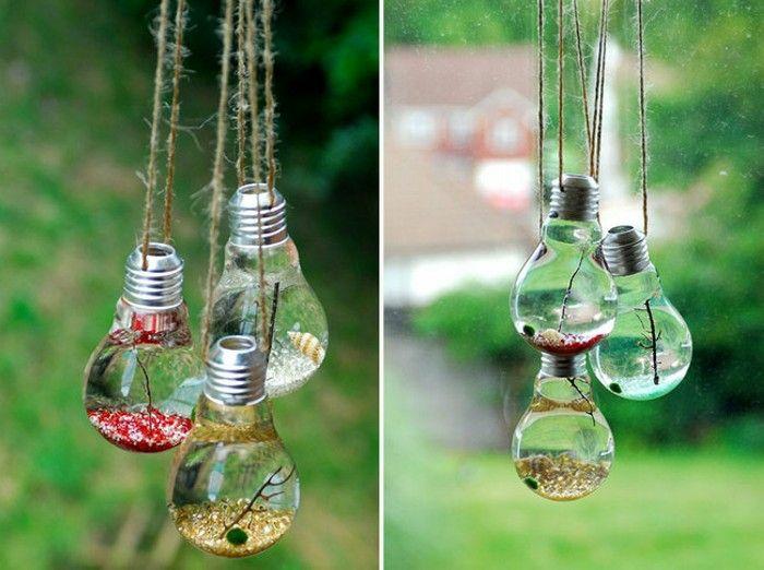 déco jardin avec des ampoules électriques