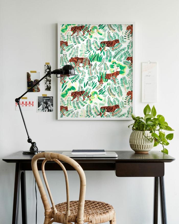 décoration tendance avec du papier peint idée
