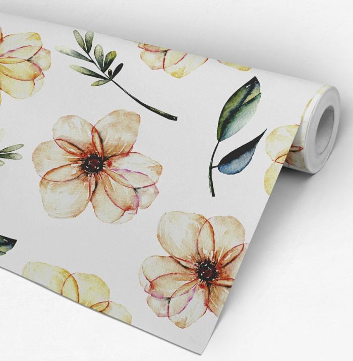 décoration tendance avec du papier peint idées