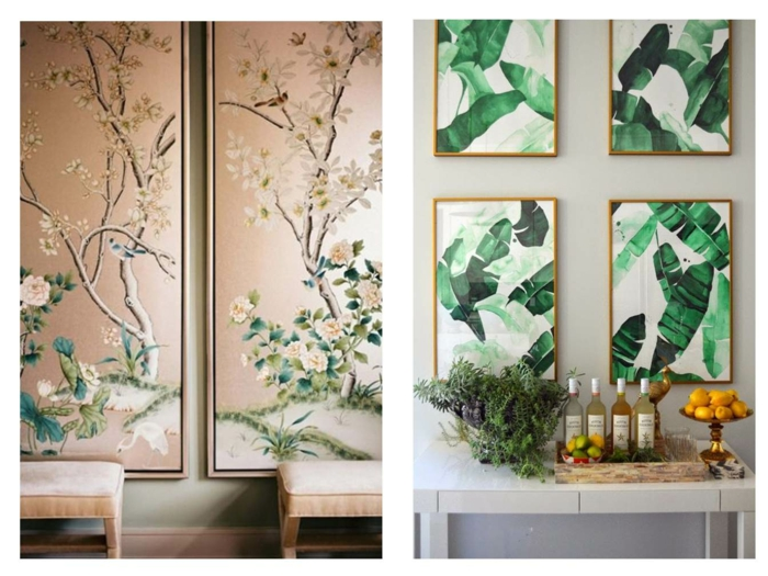 décoration tendance avec papier peint