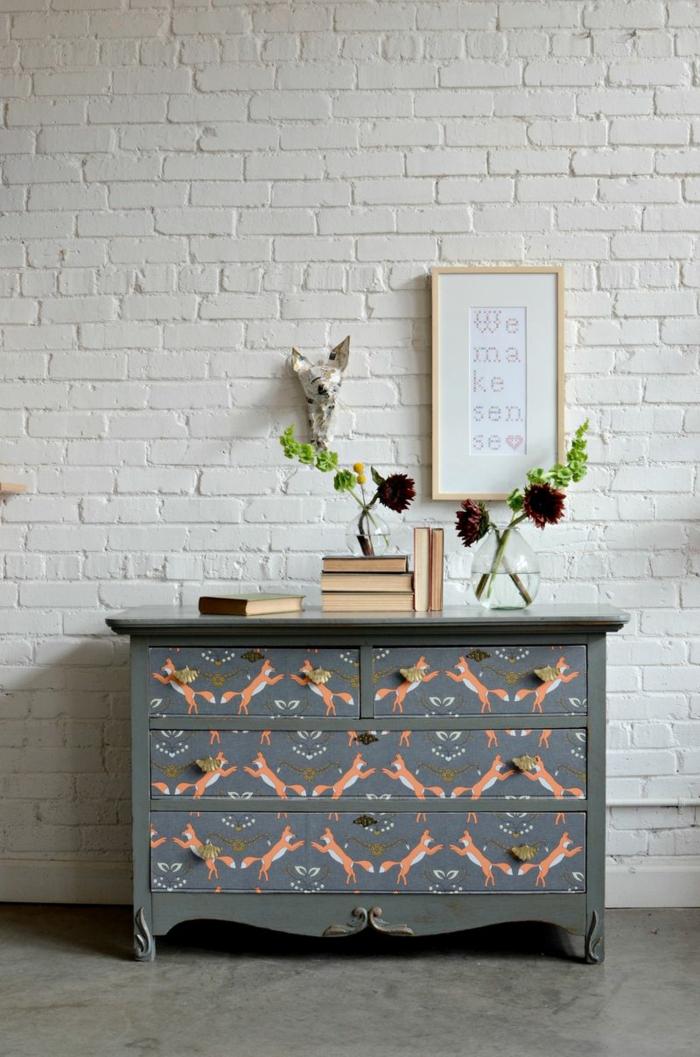 d coration tendance avec du papier peint id es faciles r aliser. Black Bedroom Furniture Sets. Home Design Ideas