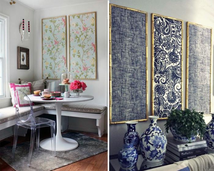 décoration tendance pour le mur avec du papier peint