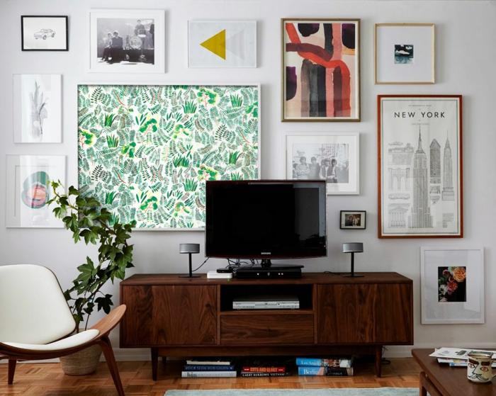 décoration tendance tableu de papier peint