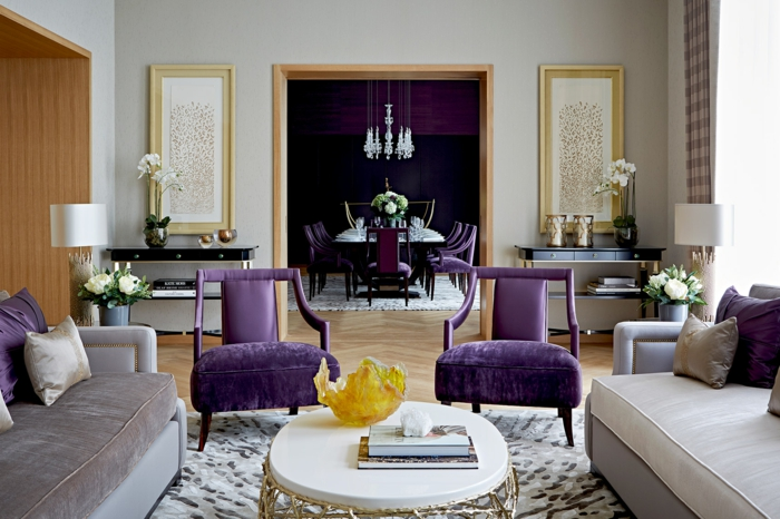 design ultra violet idées déco salon