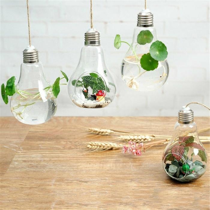 diy déco ampoules électriques suspendues
