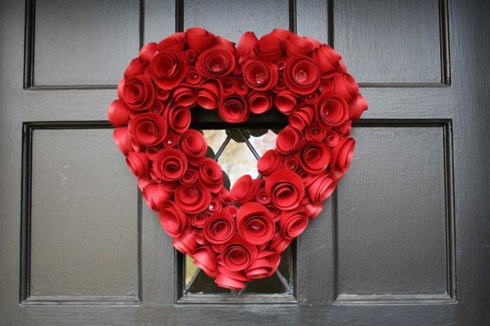 diy déco romantique pour la porte