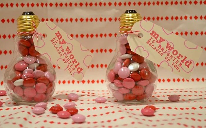 diy déco saint valentin ampoules électriques