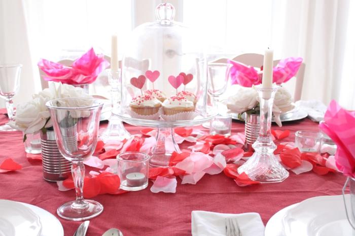 diy déco table pour la fête des amoureux