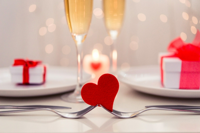 diy déco table pour st valentin