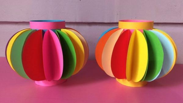 diy lanterne chinoise de papier coloré
