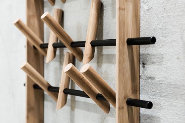 diy patère design bois