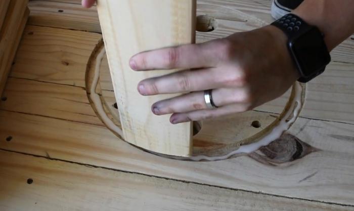 diy table en touret bois