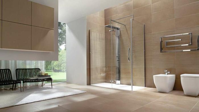 douche à l'italienne salle de bains tendance