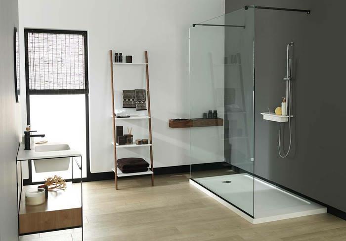 douche à l'italienne xxl avec receveur