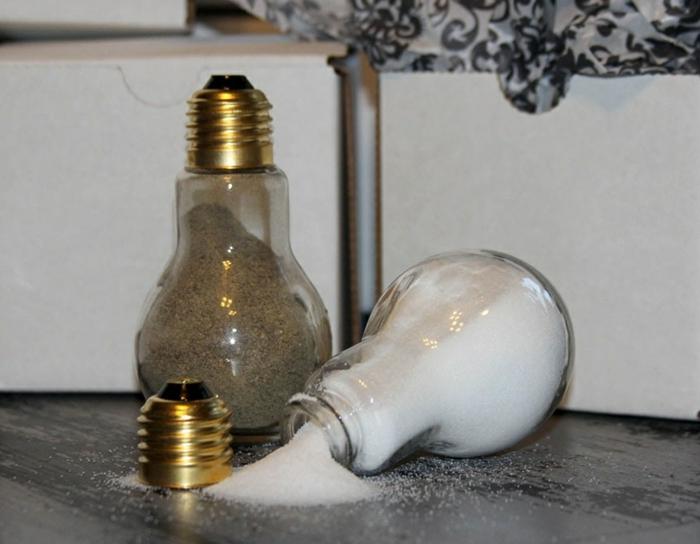 fabriquer salière ampoules électriques