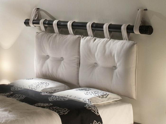 Id es d co pour fabriquer une t te de lit unique - Comment faire une tete de lit avec des coussins ...