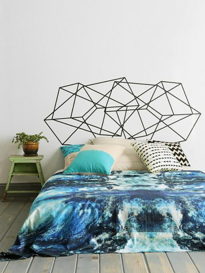 fabriquer une tête de lit avec du washi tape