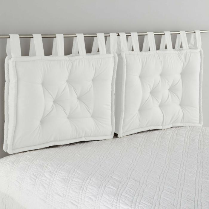 fabriquer une tête de lit en textile