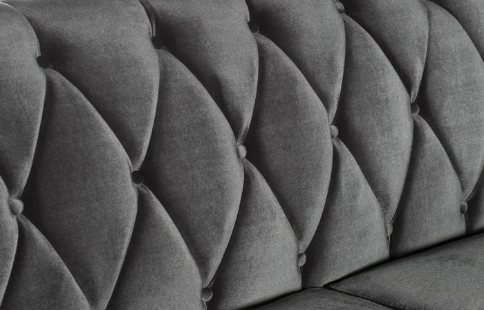 gris canapé velours