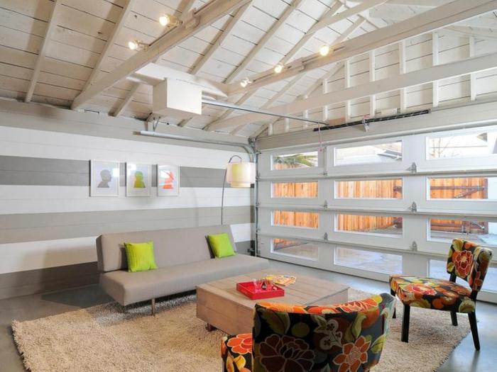 idée aménagement salon transformer un garage en habitation