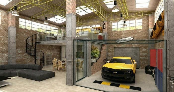 idée d'aménagement transformer un garage en habitation