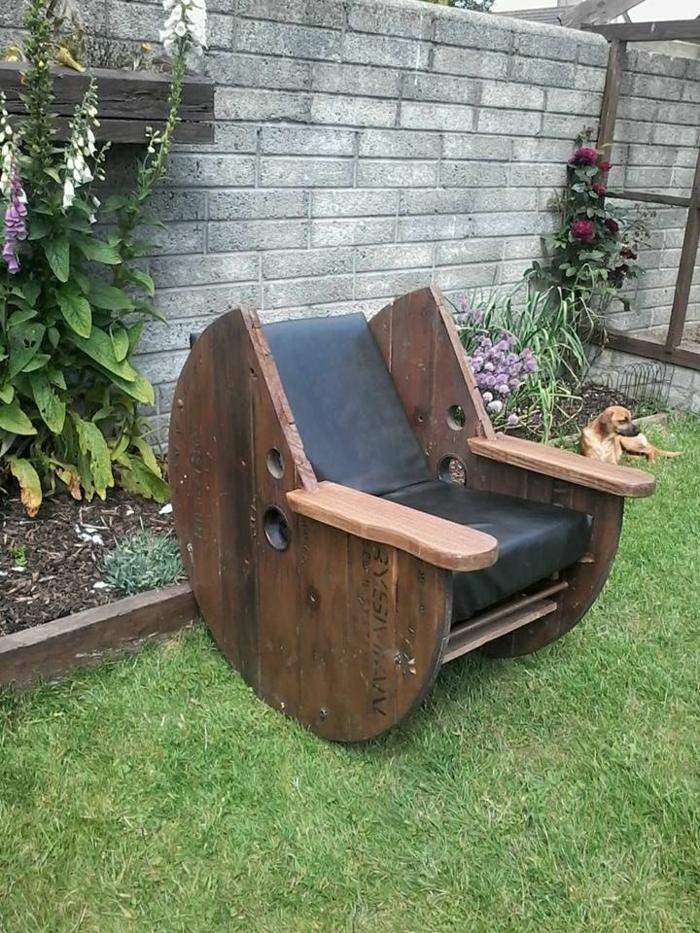 idée de meuble jardin de touret bois