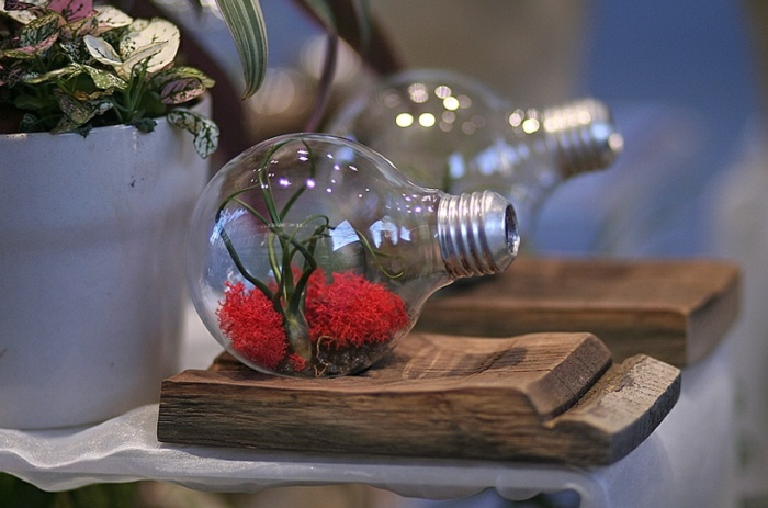 idée fabrication déco ampoules électriques